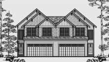 Garage Duplex Plans Basement House Double Master