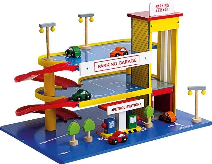 Garage Enfant Bois Station Essence Legler Jouet