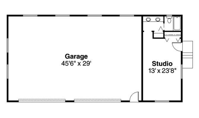 Garage Floor Plans Bathroom
