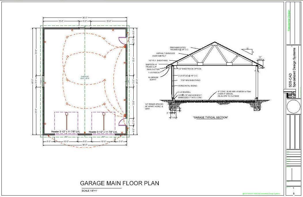 Garage Framing Plans House Home Designs