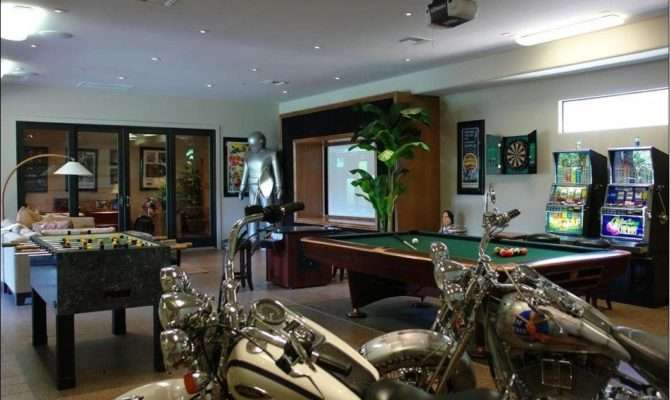 Garage Game Room Decorating Ideas Cool