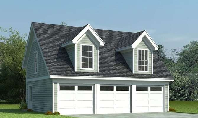 Garage Loft Plans Car Plan Cape Cod Styling