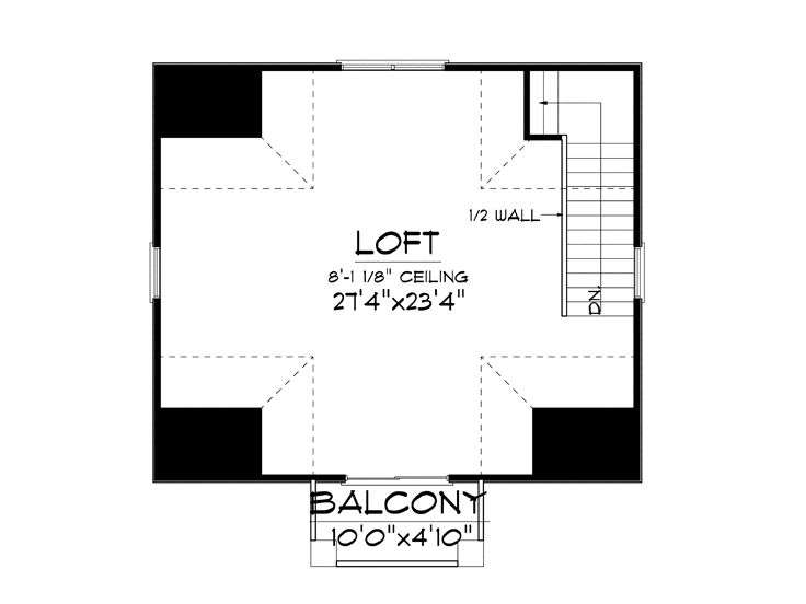 Garage Loft Plans European Style Plan