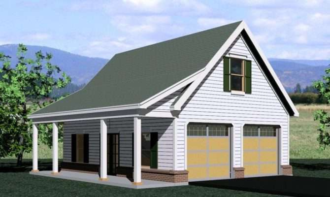 Garage Loft Plans Two Car Plan Country Styling