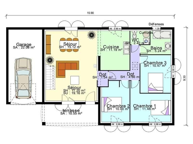 Favorit Beautiful Plan Garage Maison Pictures - Transformatorio.us  JN46