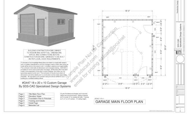 Garage Plans Blueprints Construction Drawings
