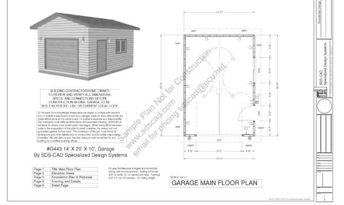 Garage Plans Blueprints Downloadable