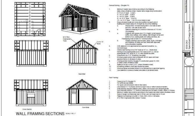 Garage Plans Garden Shed