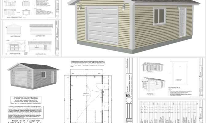 Garage Plans Pdf Dwg