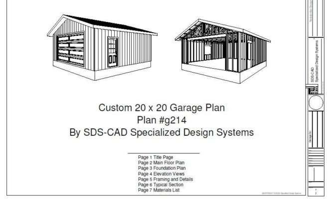Garage Plans Storage Shed Design Plandlbuild