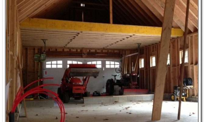 Garage Storage Loft Construction Home Design Ideas