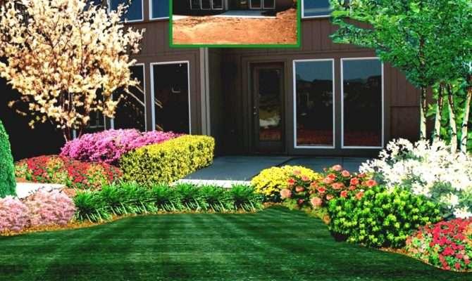 Garden Design Front House Simple Landscape Ideas