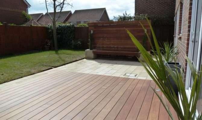 Garden Makeover Paving Ipe Hardwood Deck Vertical