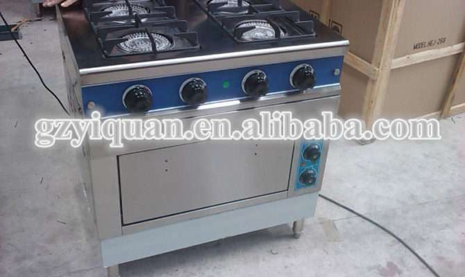 Gas Range Cooker Electric Oven Home Combination