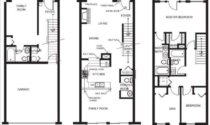 Genius Small Townhouse Floor Plans House