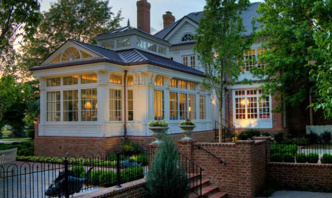 Georgian Conservatory Williamsburg Style Home