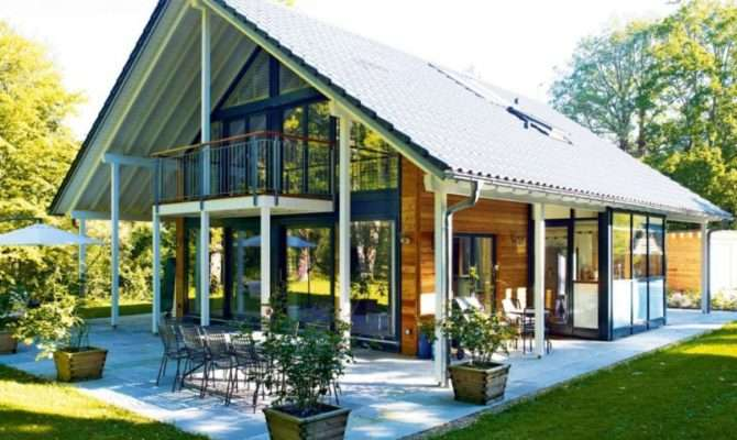 German Style House Plans Glass Wood