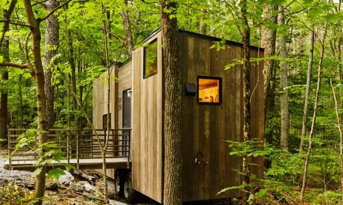 Getaway Tiny Houses Woods Can Rent Design Milk