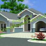 Ghana House Plans Bedroom Single Storey Plan Maame