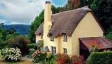 Gingerbread Cottage House Beautiful Landscape