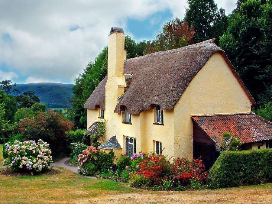 Gingerbread Cottage House Beautiful Landscape