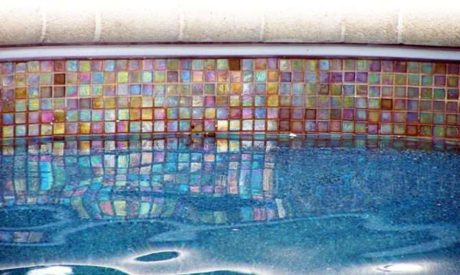 Glass Tile Outdoor Design Swimming Pool Waterline