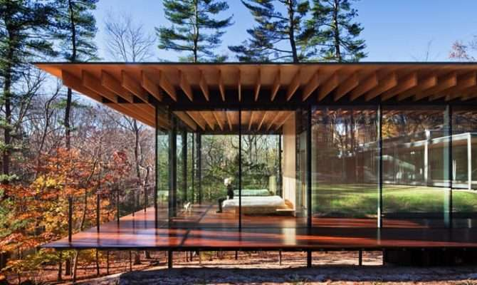 Glass Wood House New Canaan Connecticut Kengo Kuma