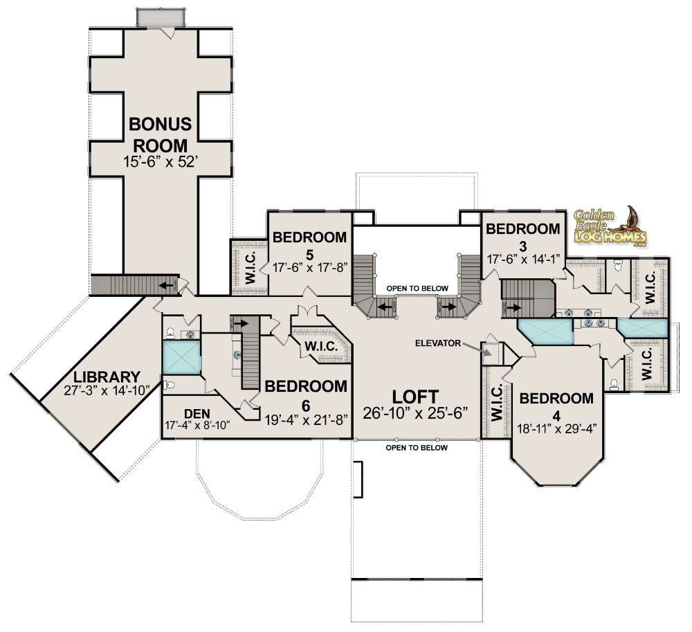 Golden Eagle Log Timber Homes Floor Plan Details