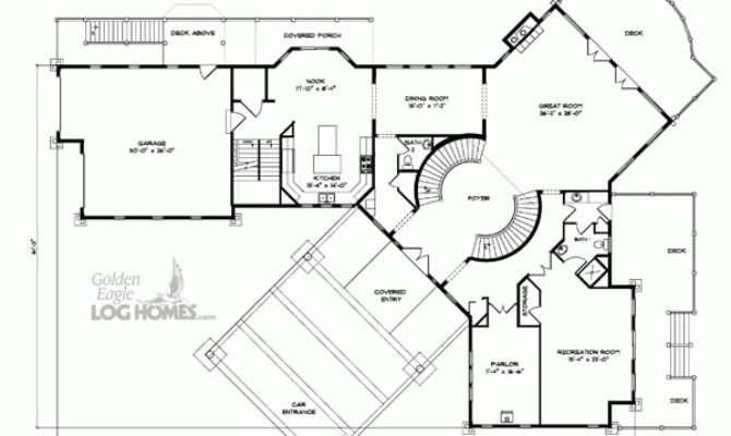Golden Eagle Log Timber Homes Floor Plan Details