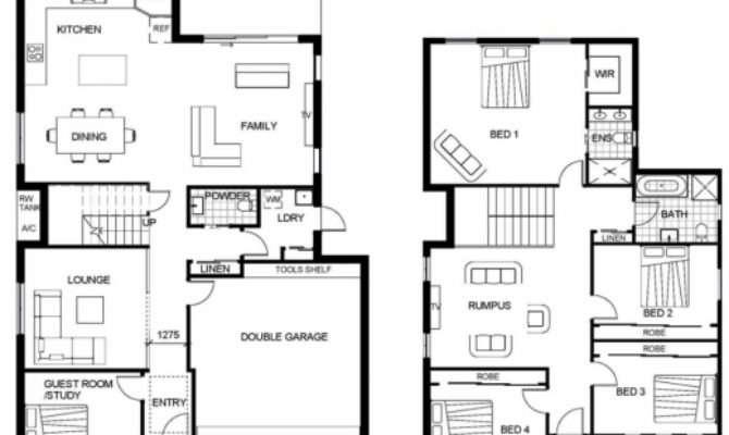 Gorgeous Modern Double Storey House Plans Australia