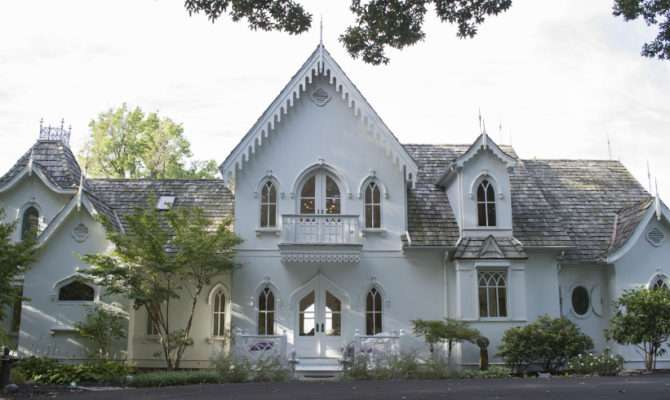 Gothic Revival White Home Tour American House Design
