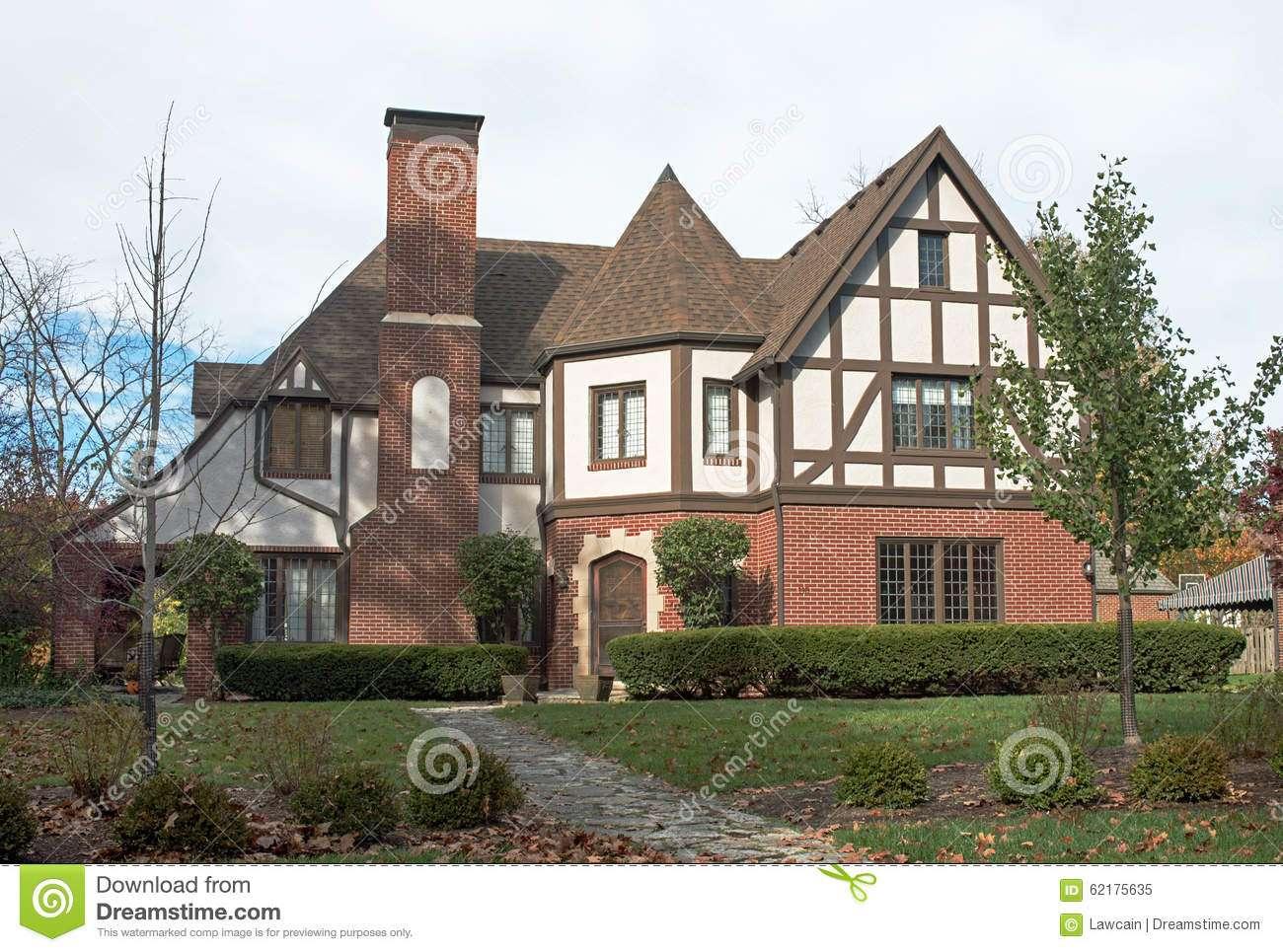 Grand English Tudor Home Gable