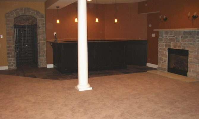 Granite Bar Stone Fireplace Wine Cellar