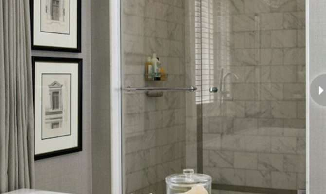 Gray Bathroom Transitional Style Home