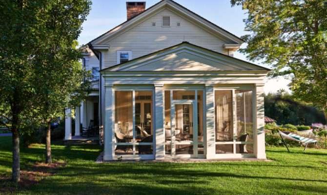 Greek Revival Farmhouse Porch Burlington Connor