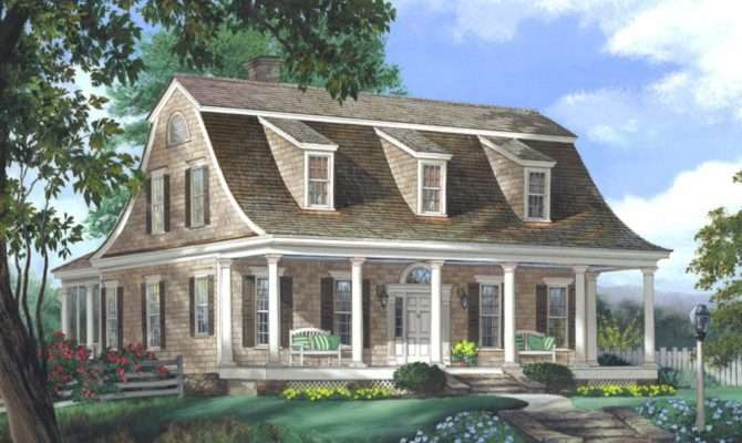 Greek Revival House Style Dutch Colonial Plans