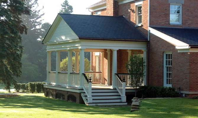 Greek Revival Porch Addition Traditional Other