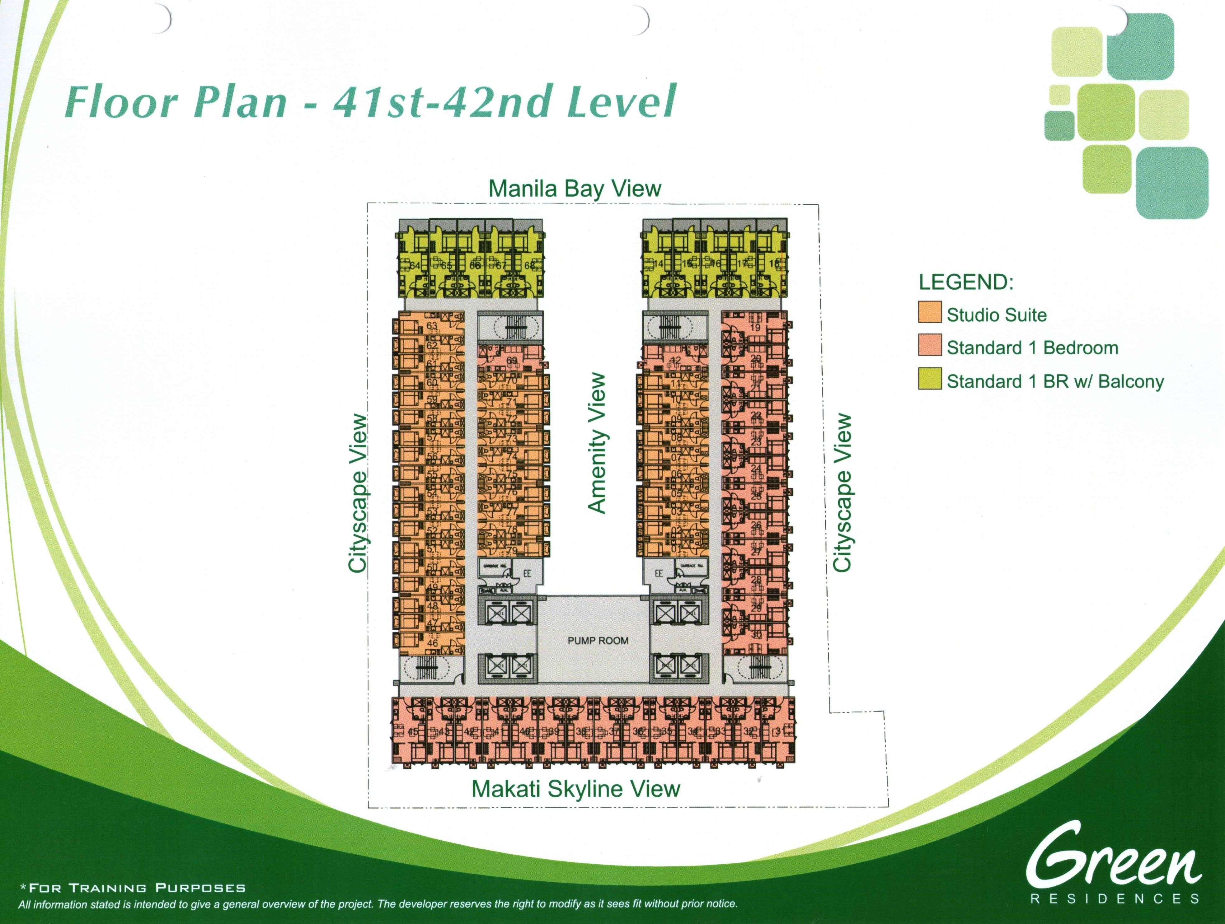 Green Residences Floor Plan
