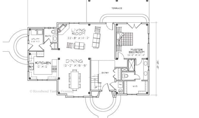 Greenbrier French Country Cottage Floor Plan