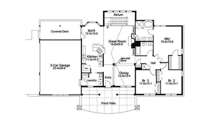 Greensaver Atrium Berm Home Plan House Plans