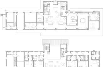 Ground First Floor Plans Rustic Farmhouse Rosignano Monferrato