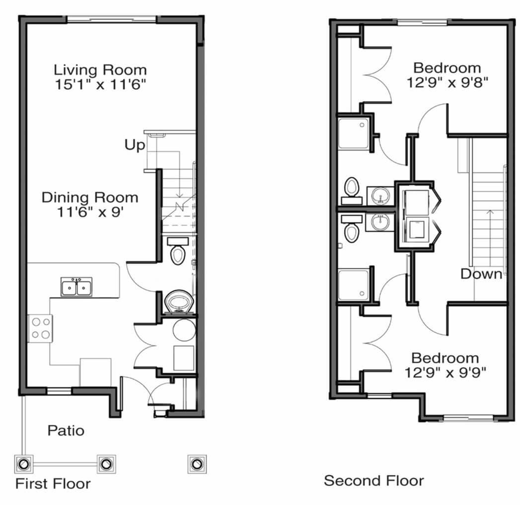 Gvsu Apartment Floor Plans West