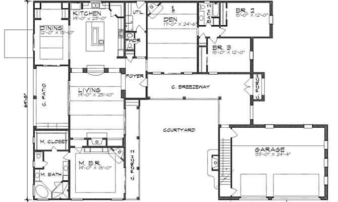 Hacienda Style Homes Floor Plans Courtyard