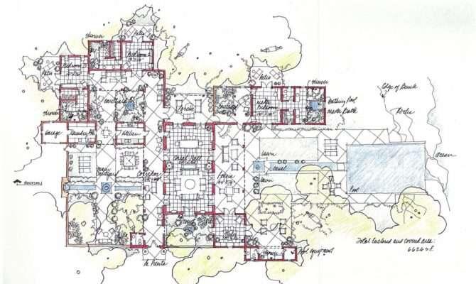 Hacienda Style House Plans Spanish Homes Floor Plan