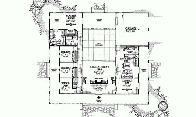 Hacienda Style House Plans