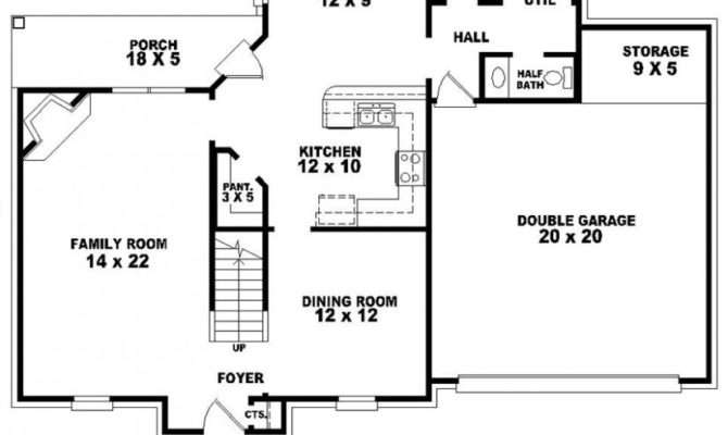 Half Bath French Traditional Style House Plan Plans Floor