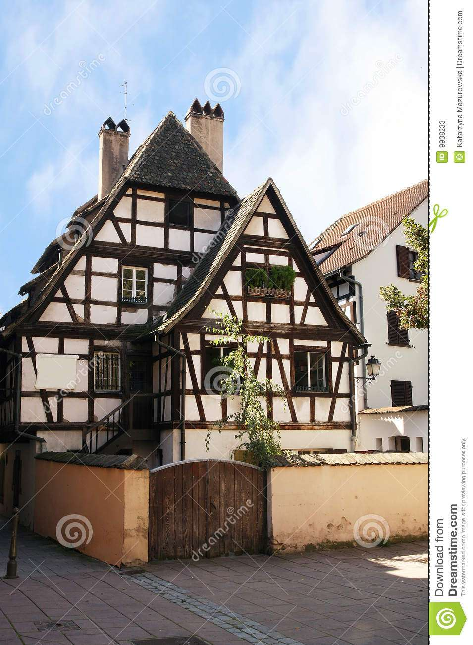 Half Timbered House Strasbourg Alsace France