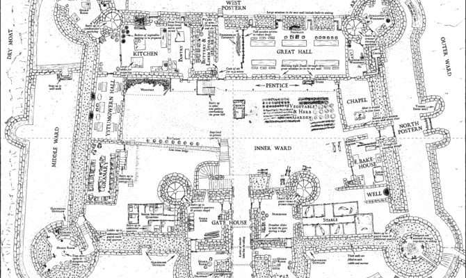 Harlech Castle Floor Plans Wales But Still Really
