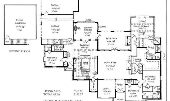 Harrells Ferry Country French Home Plans Louisiana House