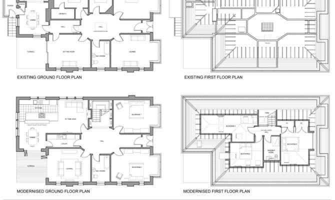 Harrower House Extensions Floorplans